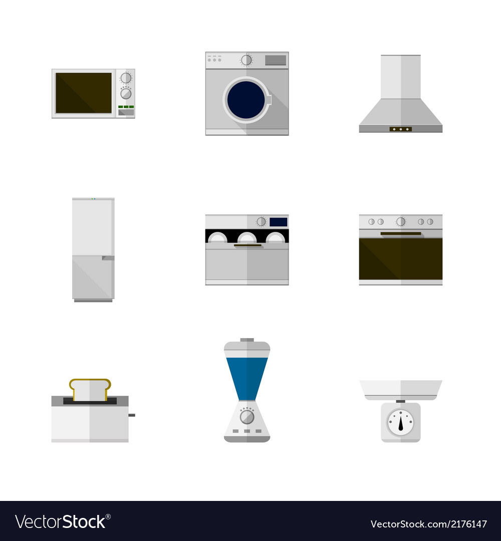 Flat icons for home equipment vector | Price: 1 Credit (USD $1)