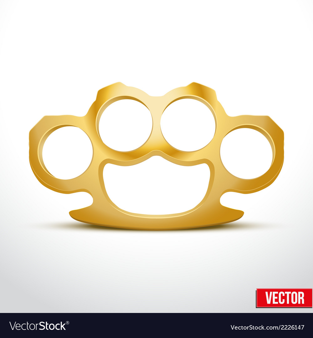 Gold metal brass knuckles vector | Price: 1 Credit (USD $1)