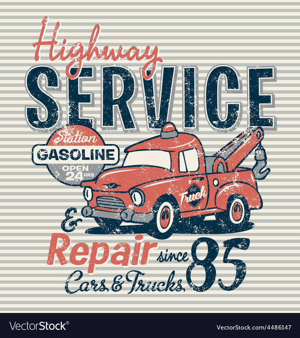 Highway service station vector | Price: 3 Credit (USD $3)