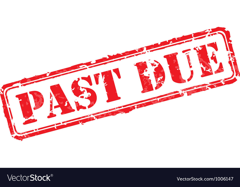Past due rubber stamp vector | Price: 1 Credit (USD $1)