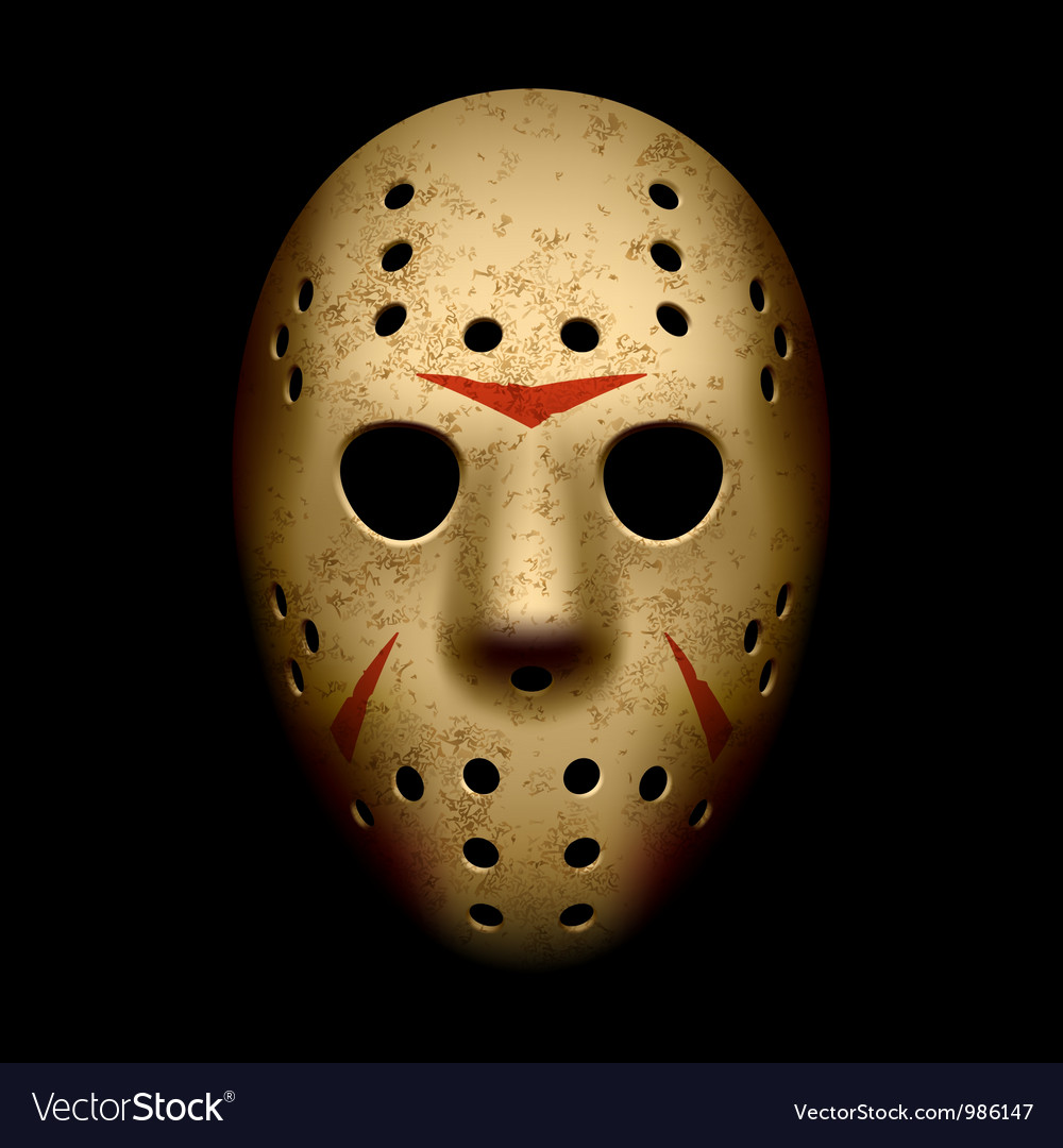 Scary hockey mask vector | Price: 1 Credit (USD $1)