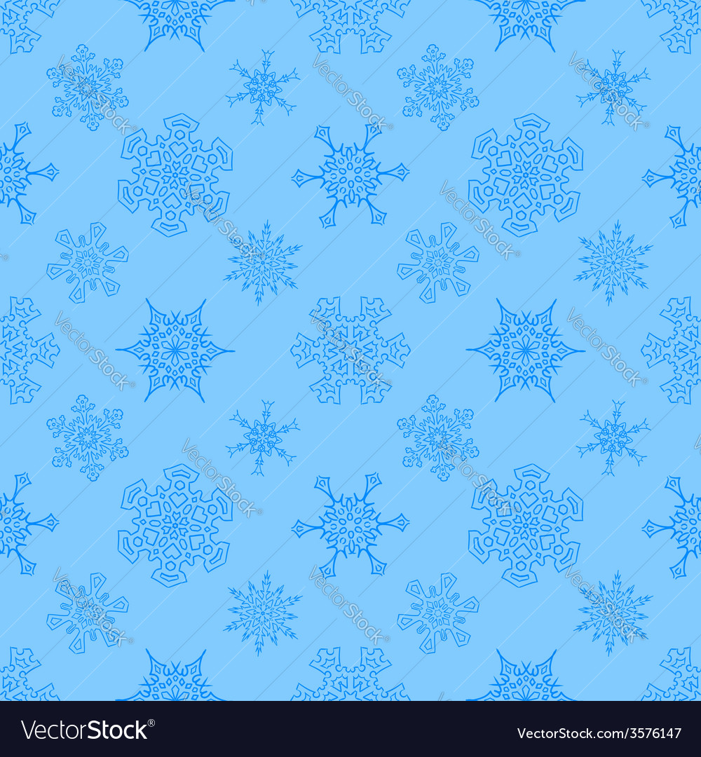 Seamless christmas blue pattern with drawn vector   Price: 1 Credit (USD $1)