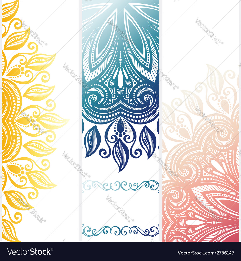 Set of patterned banners vector | Price: 1 Credit (USD $1)