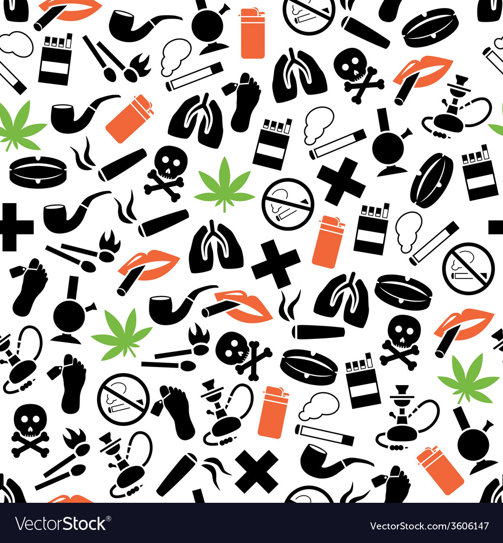 Smoking seamless pattern vector | Price: 1 Credit (USD $1)