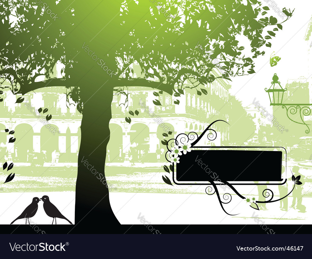 Street scene vector | Price: 1 Credit (USD $1)