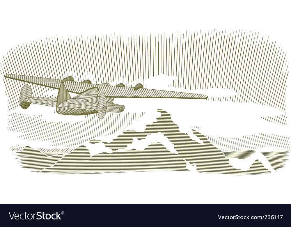 Woodcut clipper scene vignette vector | Price: 1 Credit (USD $1)