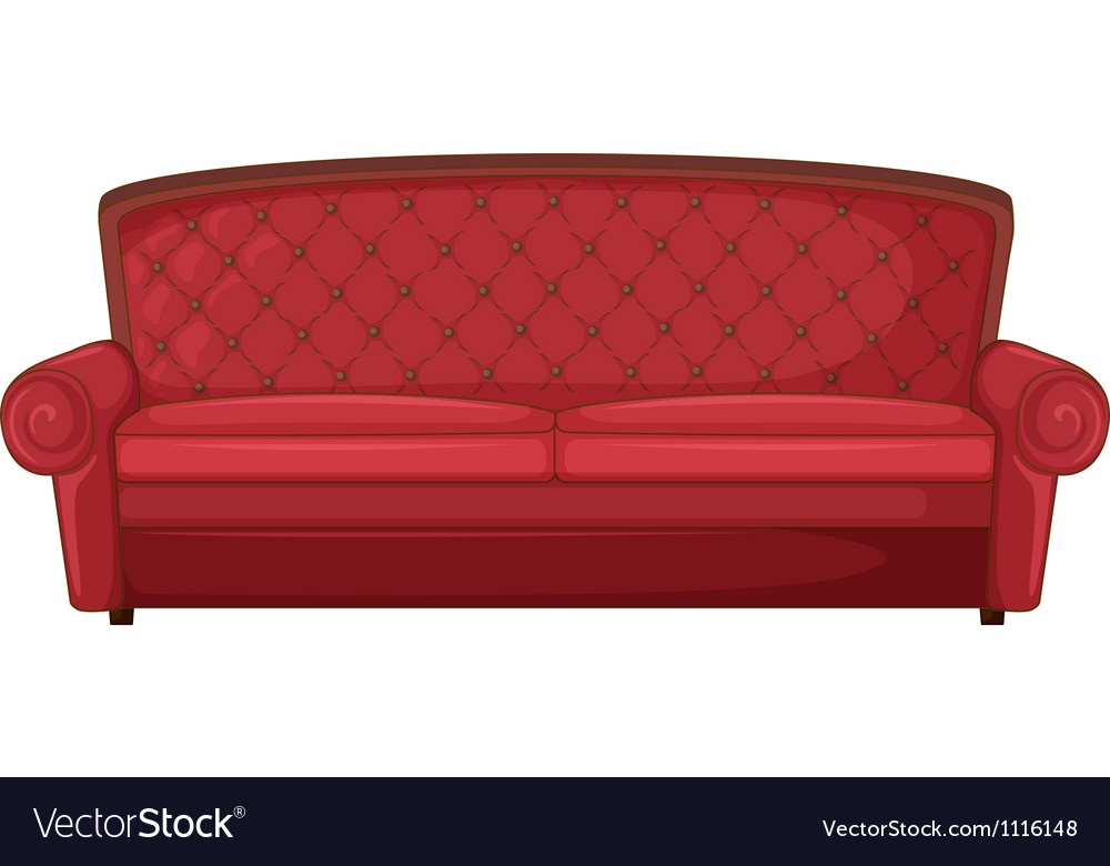 A red sofa vector | Price: 1 Credit (USD $1)