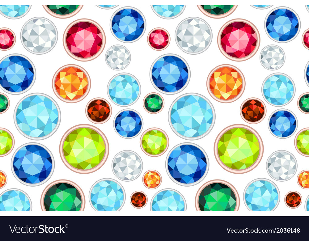 Colored gemstone saturated color seamless pattern vector | Price: 1 Credit (USD $1)