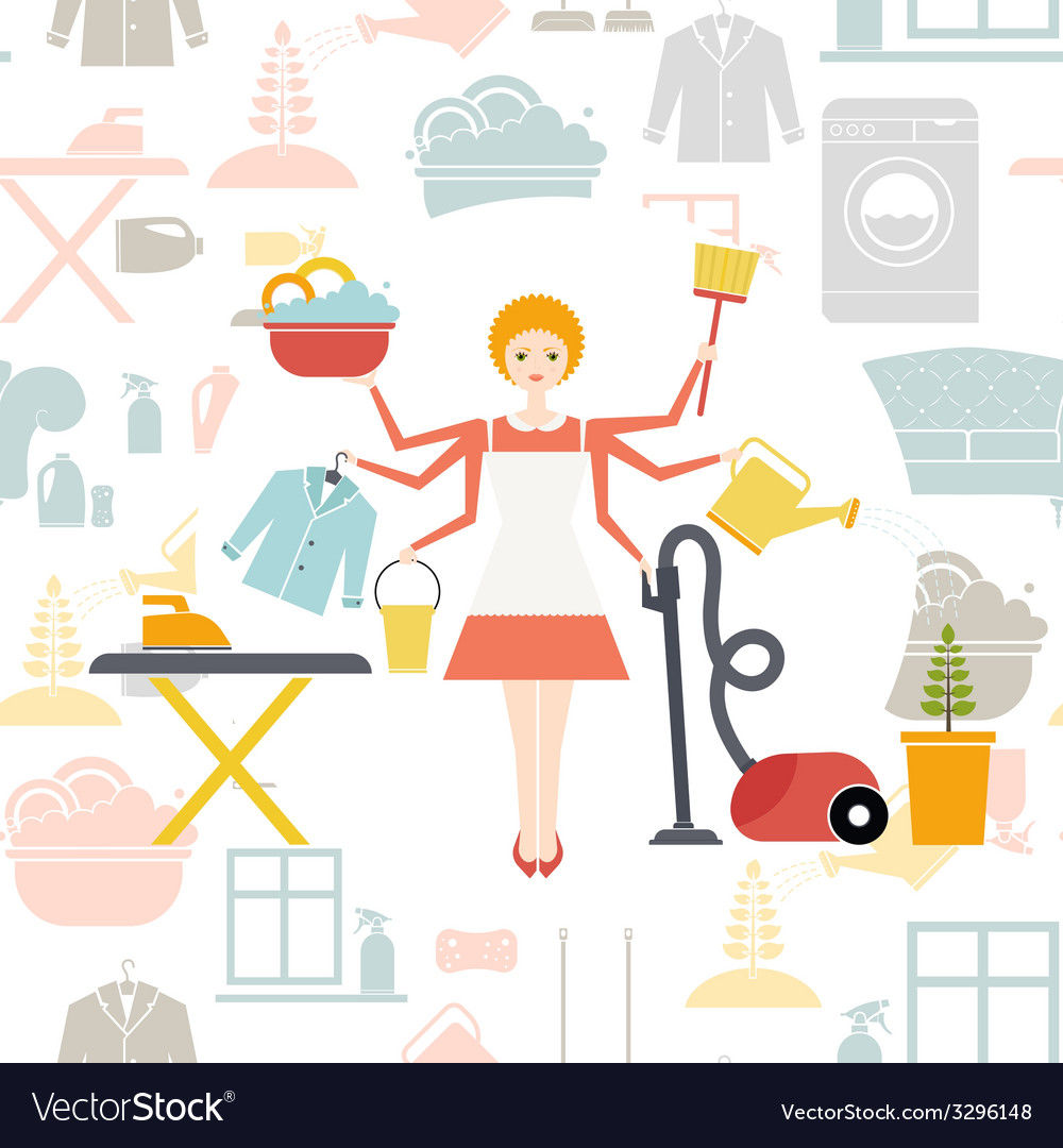 Housekeeper vector | Price: 1 Credit (USD $1)