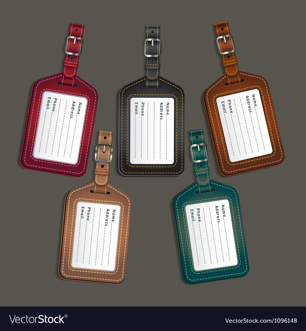 Leather luggage tags labels vector | Price: 1 Credit (USD $1)