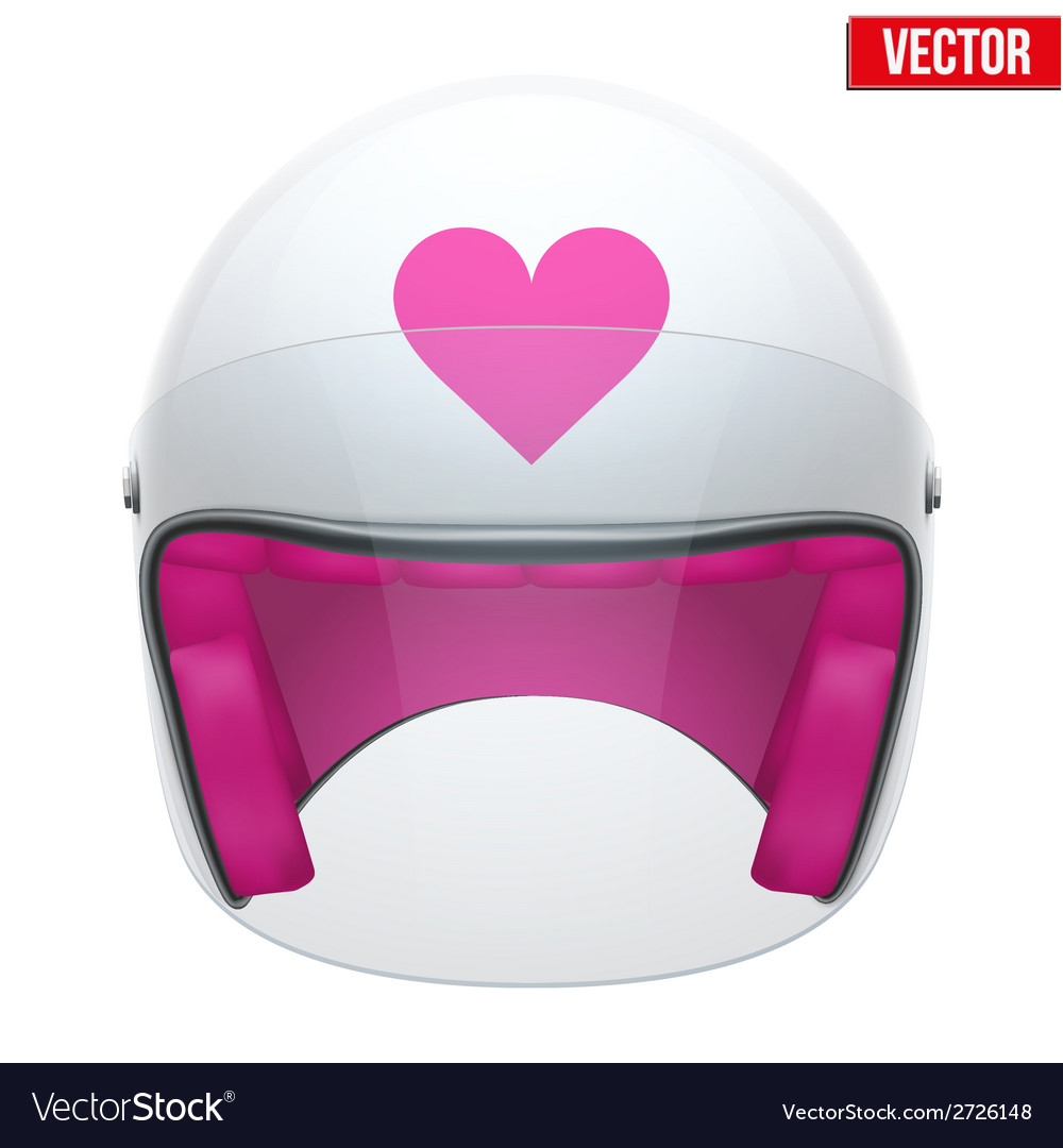 Pink female motorcycle helmet with glass visor vector | Price: 1 Credit (USD $1)