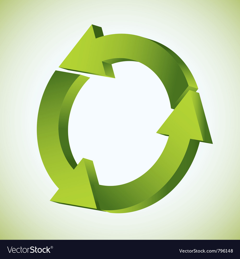 Refresh recycle icon vector | Price: 1 Credit (USD $1)