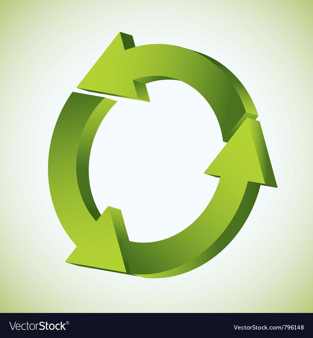 Refresh recycle icon vector | Price: 1 Credit (USD $1)