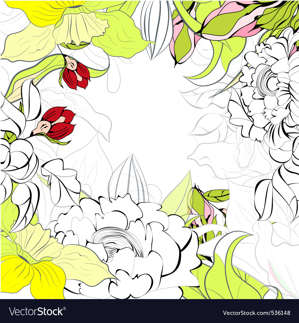 Romantic summer background vector | Price: 1 Credit (USD $1)