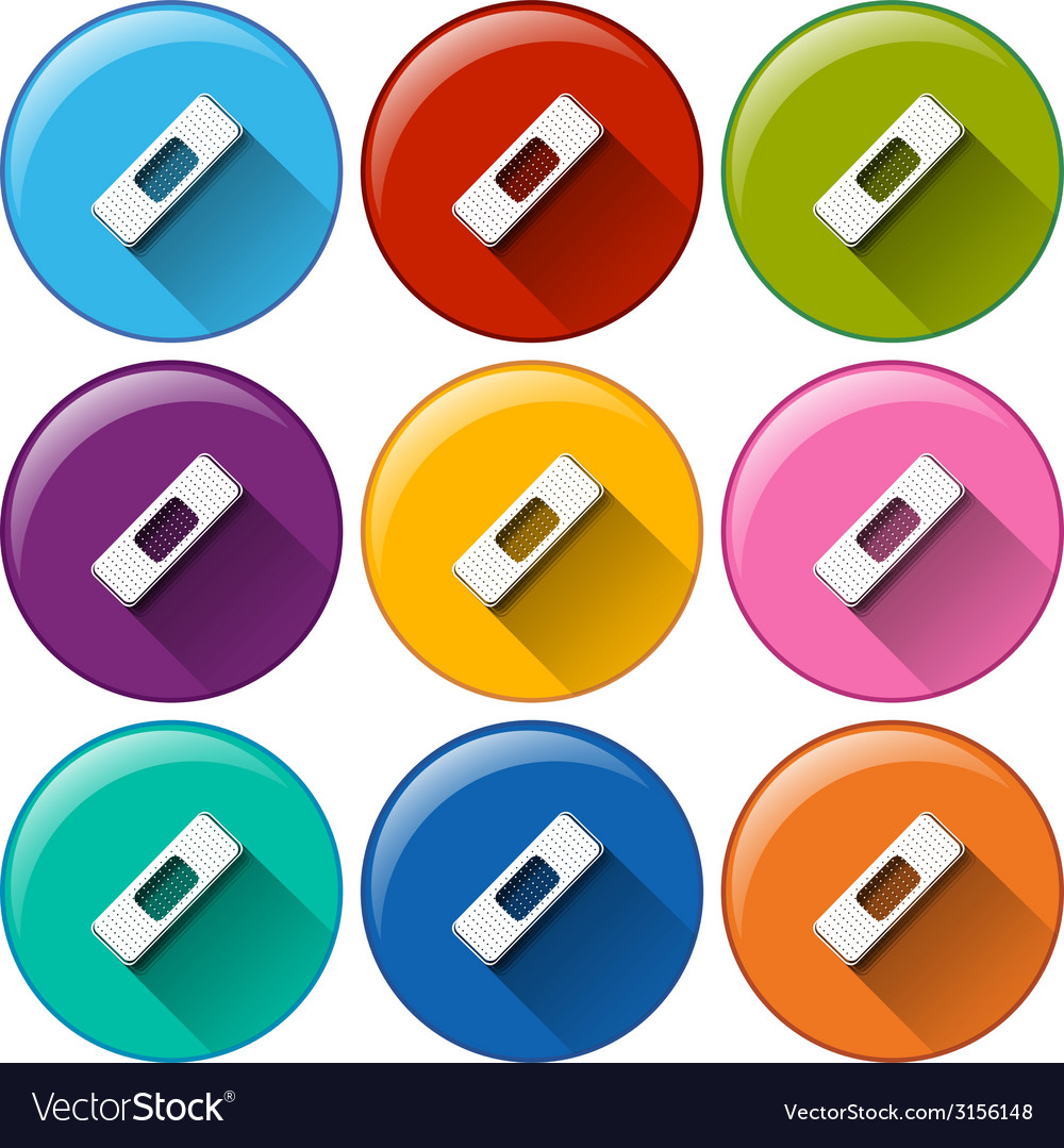 Rounded icons with band-aids vector | Price: 1 Credit (USD $1)