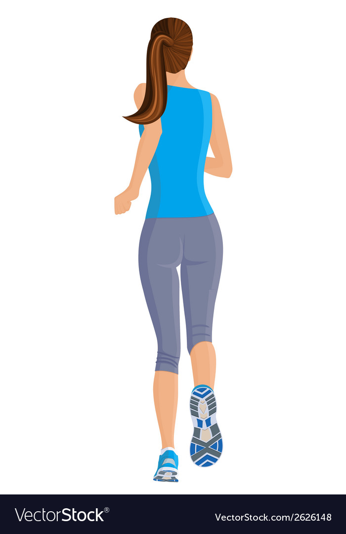 Running girl vector | Price: 1 Credit (USD $1)