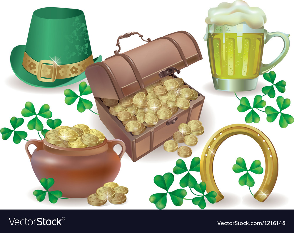 Saint patricks day set vector | Price: 3 Credit (USD $3)