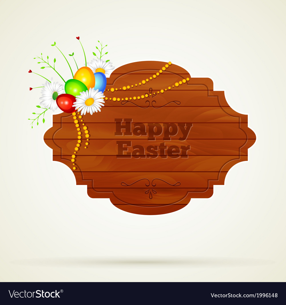 Wooden frame easter vector | Price: 1 Credit (USD $1)