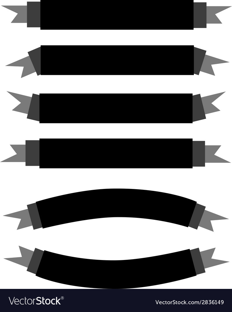 A set of beautiful black empty banners vector
