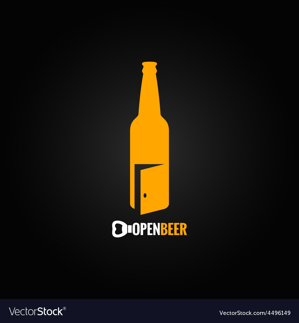 Beer bottle open concept background vector | Price: 1 Credit (USD $1)