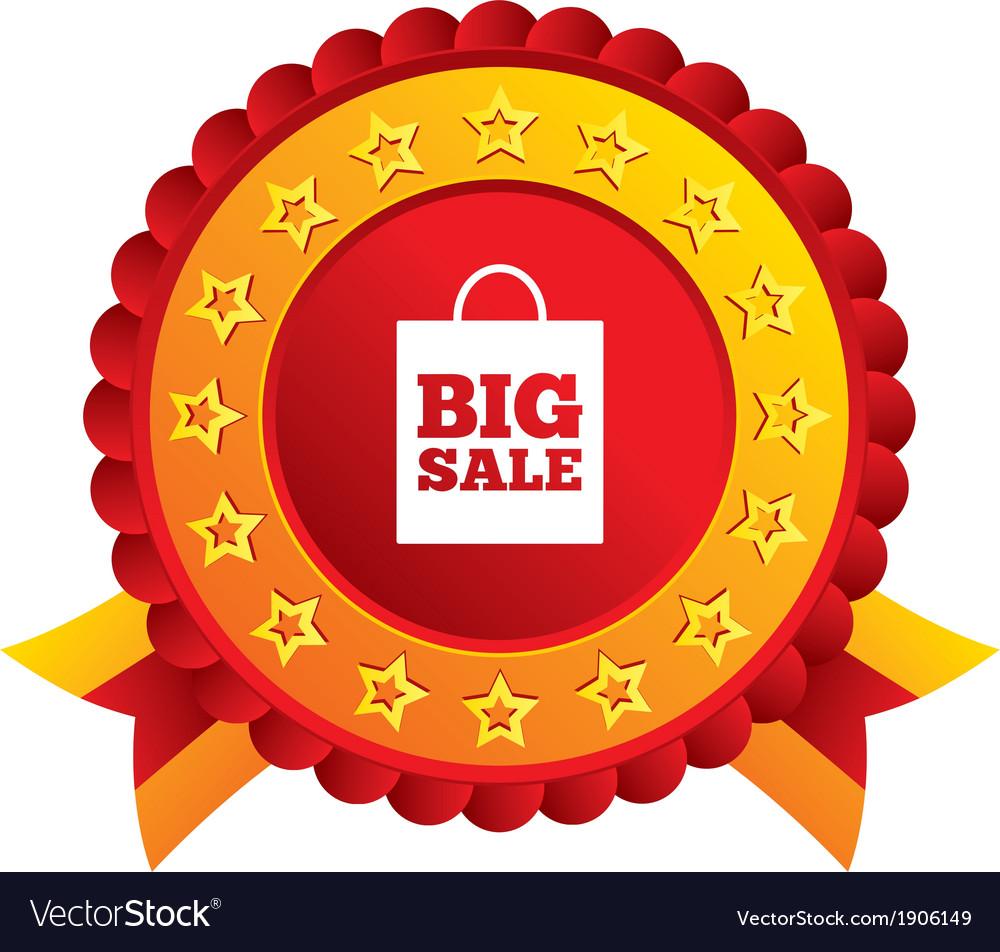 Big sale bag sign icon special offer symbol vector | Price: 1 Credit (USD $1)