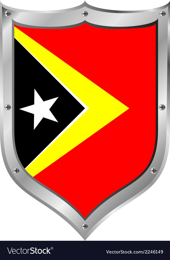 East timor flag button vector | Price: 1 Credit (USD $1)