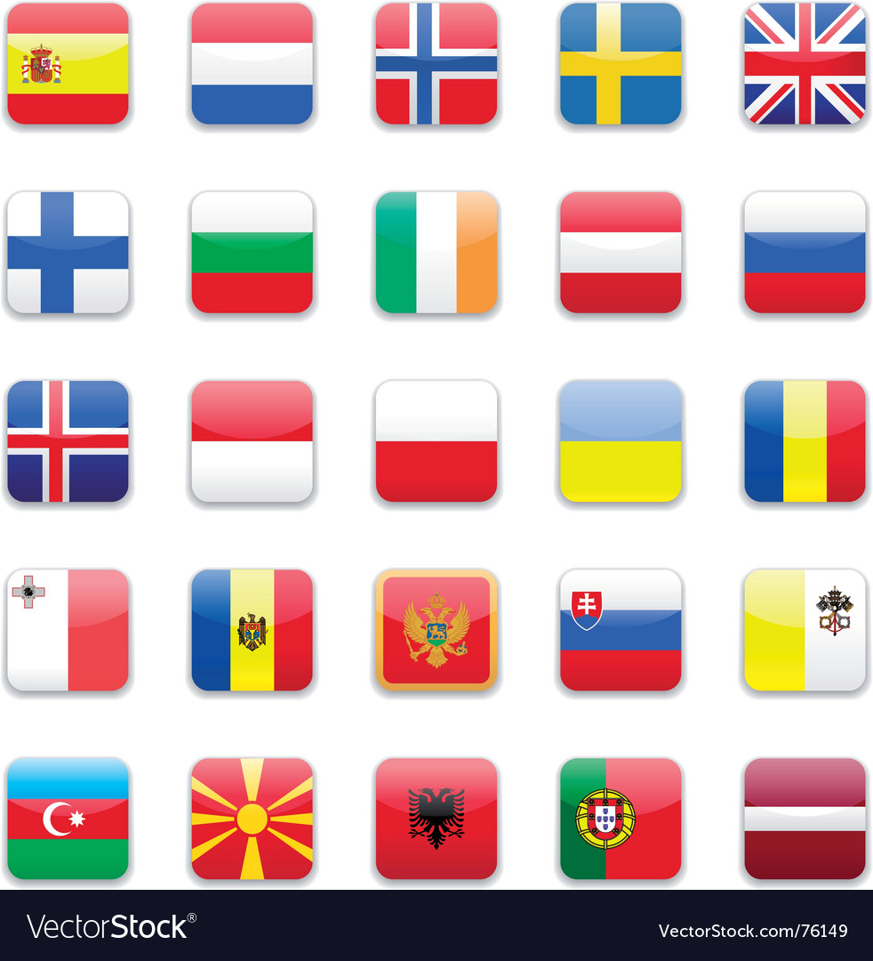 Europe flag a vector | Price: 1 Credit (USD $1)