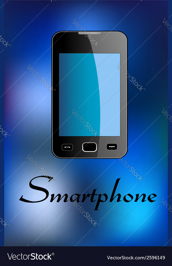 Glossy smartphone vector | Price: 1 Credit (USD $1)