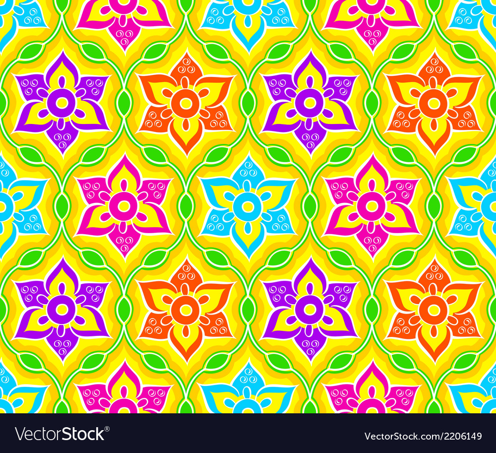 Seamless rangoli pattern vector | Price: 1 Credit (USD $1)