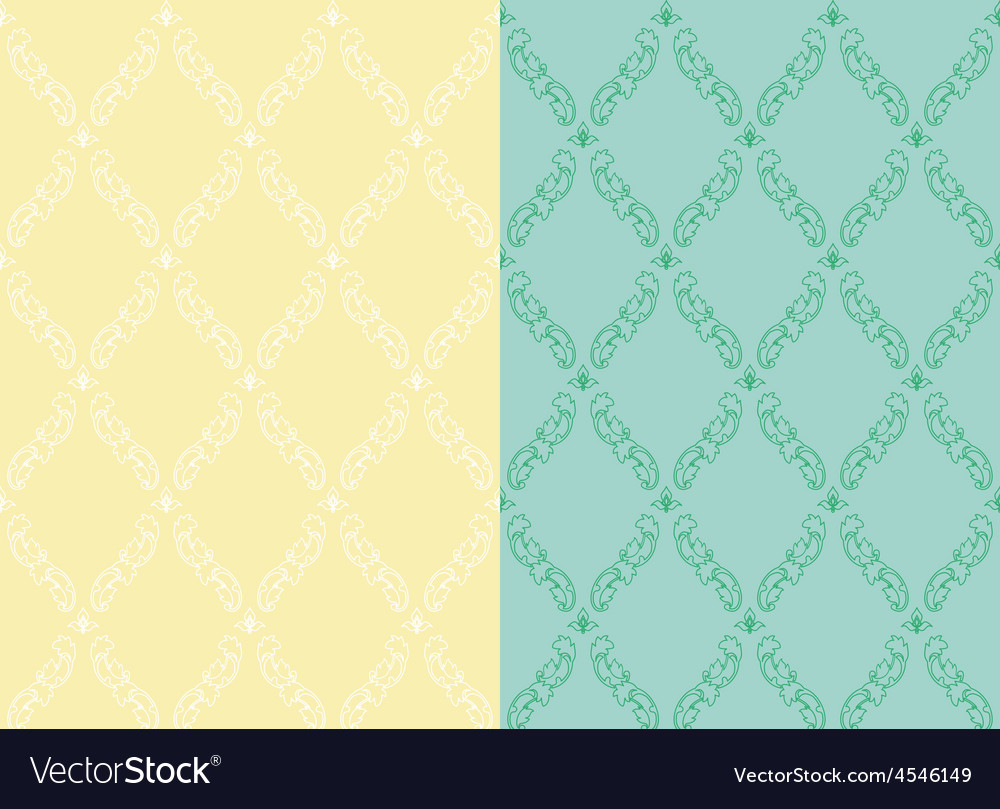 Set pattern vintage seamless old royal desktop vector | Price: 1 Credit (USD $1)