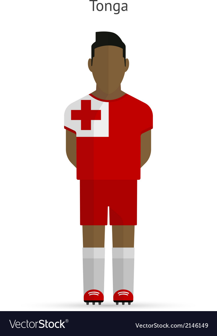 Tonga football player soccer uniform vector | Price: 1 Credit (USD $1)