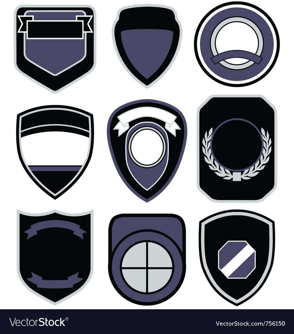 Badge shape icon set vector | Price: 1 Credit (USD $1)
