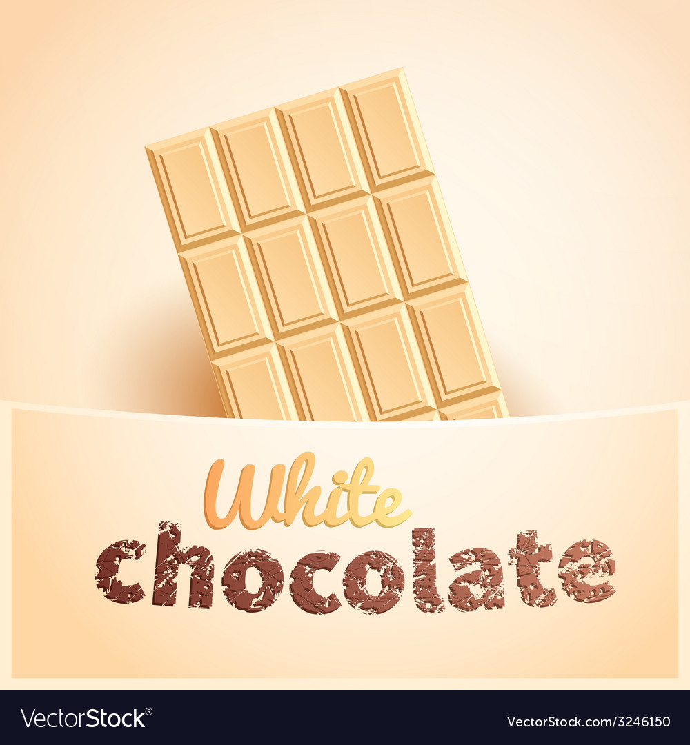 Bar of white chocolate vector | Price: 1 Credit (USD $1)