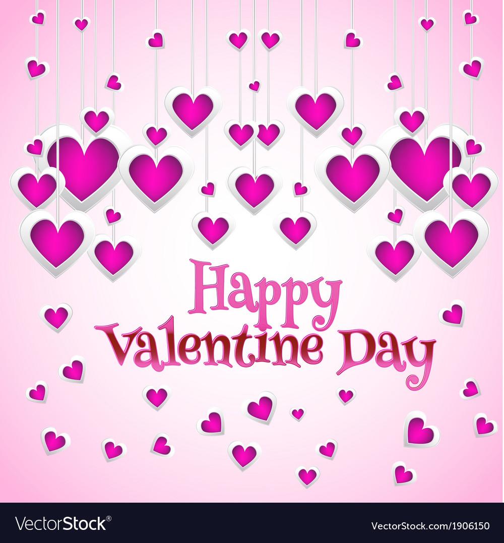 Beautiful romantic valentine card vector   Price: 1 Credit (USD $1)