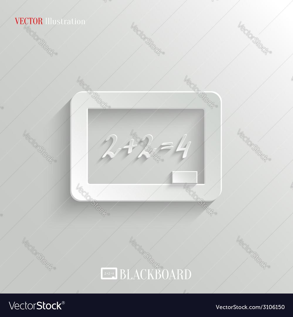 Blackboard icon - education background vector | Price: 1 Credit (USD $1)