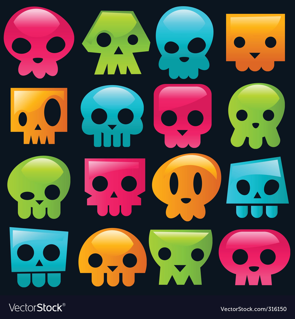 Candy skulls vector | Price: 1 Credit (USD $1)