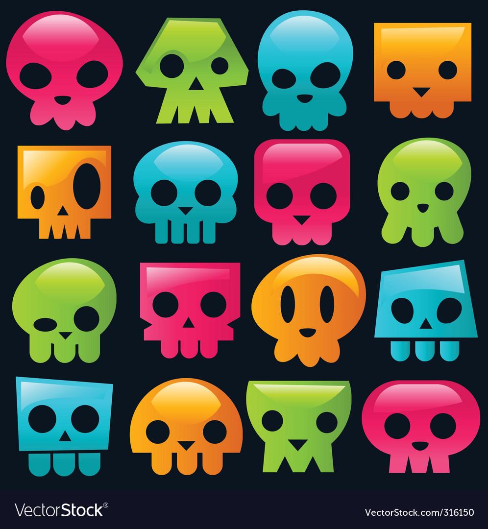Candy skulls vector | Price: 1 Credit (USD $1)