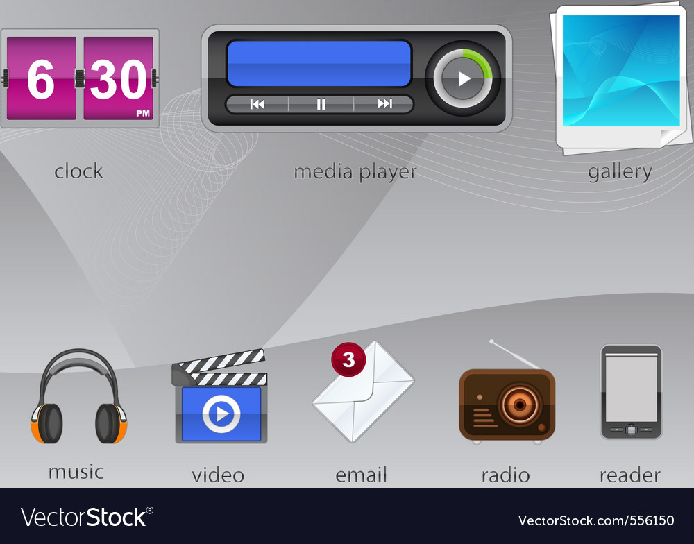 Gadgets for your tablet vector | Price: 3 Credit (USD $3)
