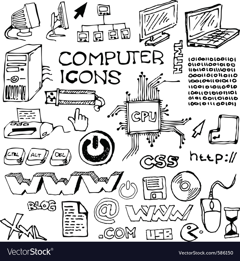 Handdrawn computer vector | Price: 1 Credit (USD $1)
