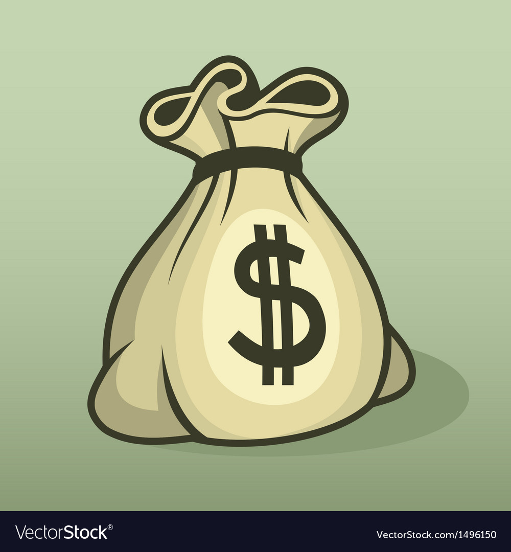 Money icon with bag color vector | Price: 1 Credit (USD $1)