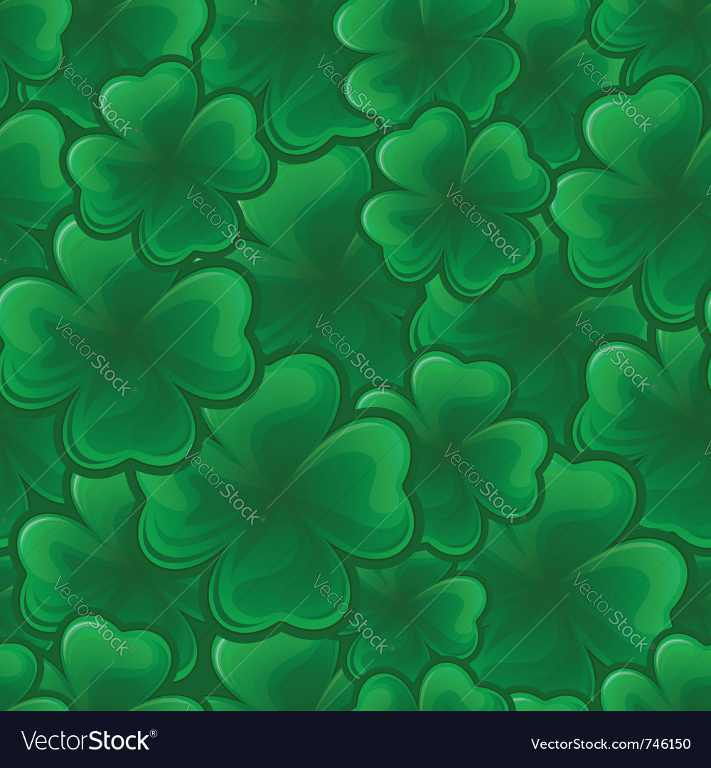 Seamless pattern from clover for st patricks day vector | Price: 1 Credit (USD $1)