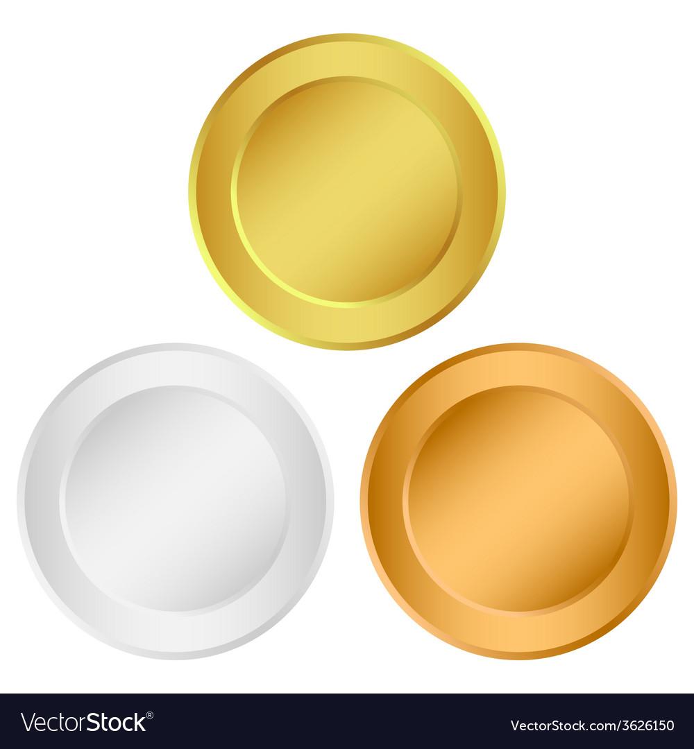Set of medals vector | Price: 1 Credit (USD $1)