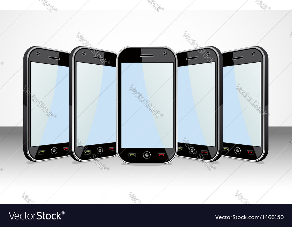 Smartphones templates vector | Price: 1 Credit (USD $1)
