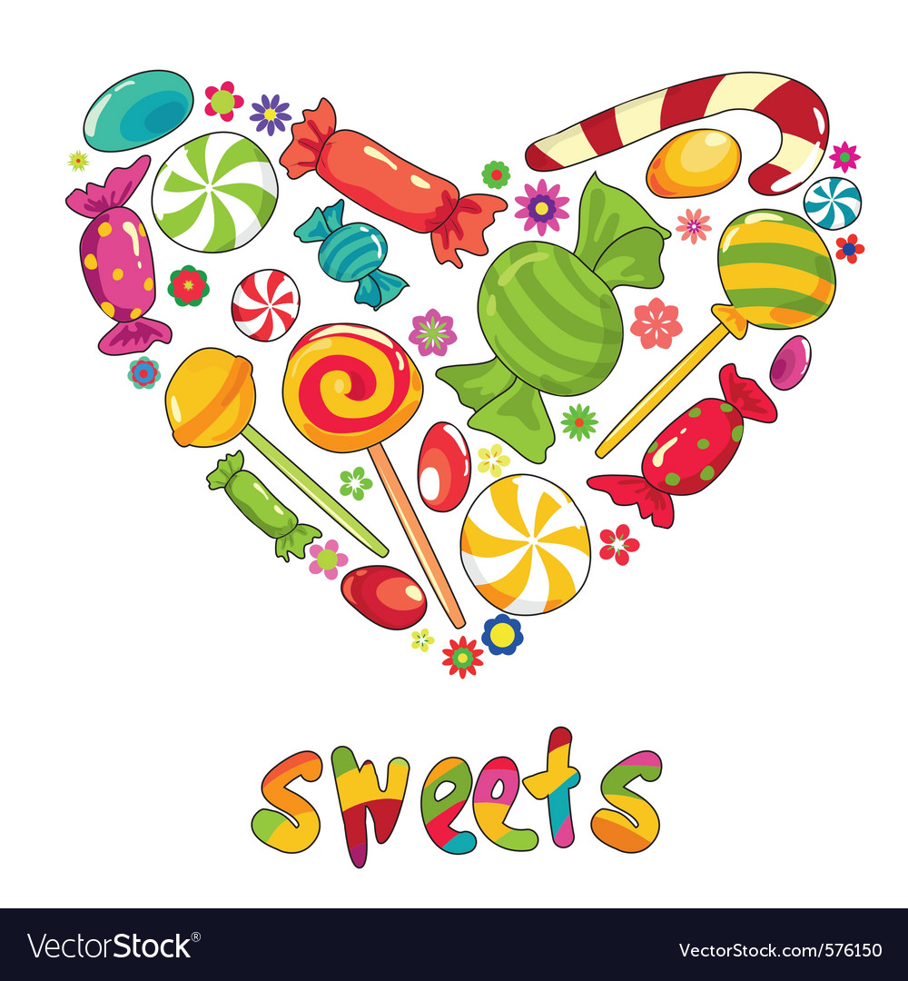 Sweets heart shape vector | Price: 1 Credit (USD $1)