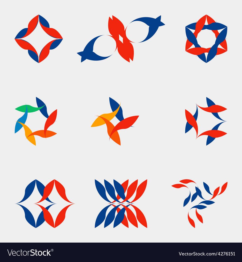 A set of nine logos vector | Price: 1 Credit (USD $1)