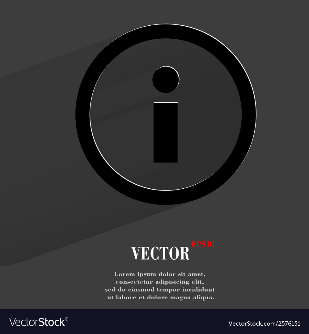 Info flat modern web button with long shadow and vector | Price: 1 Credit (USD $1)