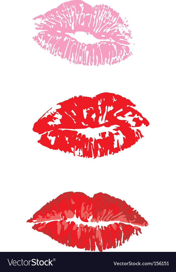 Lip print vector | Price: 1 Credit (USD $1)