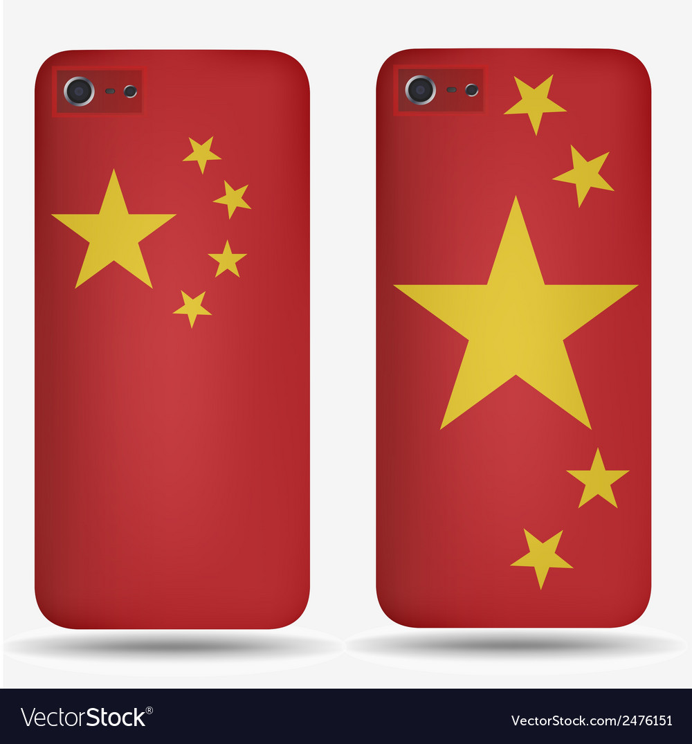 Rear covers smartphone with flags of china vector | Price: 1 Credit (USD $1)