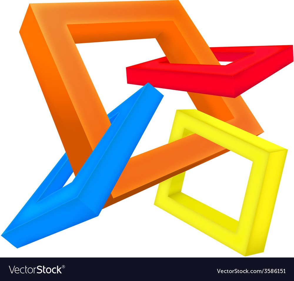 Square 3d vector | Price: 1 Credit (USD $1)