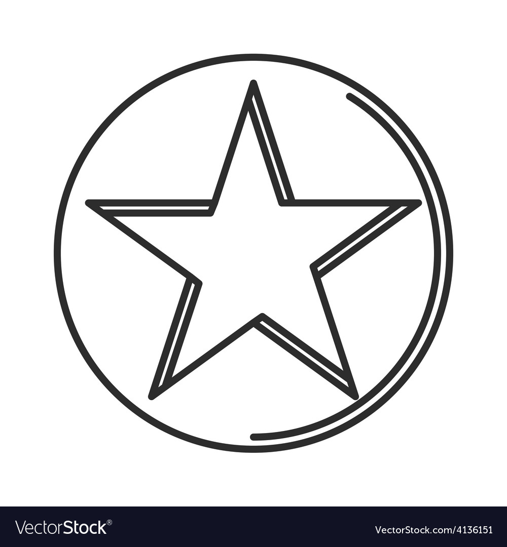 Star icon minimal linear contour outline style vector | Price: 1 Credit (USD $1)